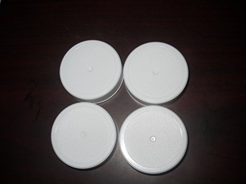 6- New 4¡± REPLACEMENT LIDS + LINERS Golden Harvest Square Canister Jar ;JM#54574-4565467/341193715
