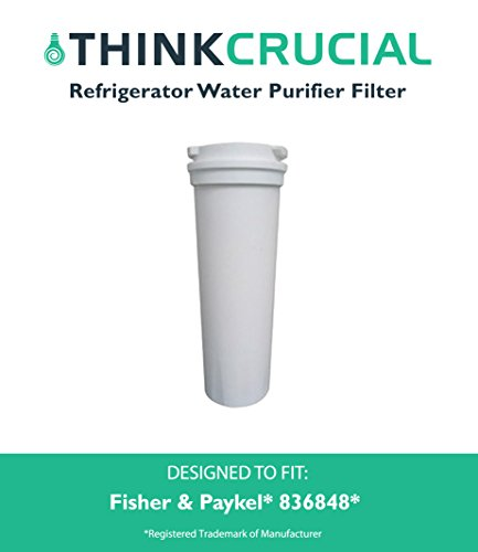 Fisher & Paykel, Part # 836848, Premium Filtration, Refrigerator Water Purifier Filter, Fits E402B, E442B, E522B & RF90A180DU, by Think Crucial