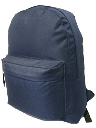 "DD 16"" Basic School Backpack Day Pack - Navy(Pack of 40) from D&D"