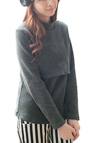 BEARSLAND Sweater Breastfeeding Nursing Pullover