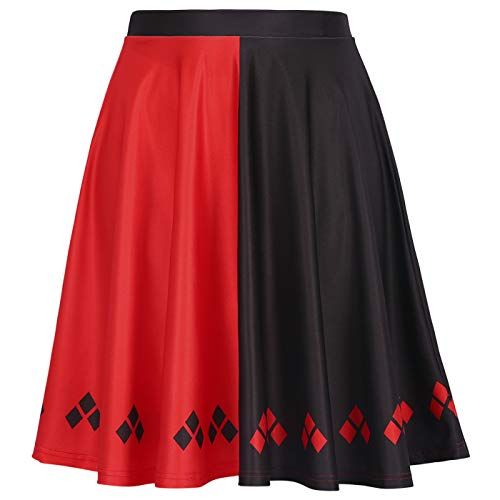 Womens Halloween Skirts Harley Skirt Comic Convention