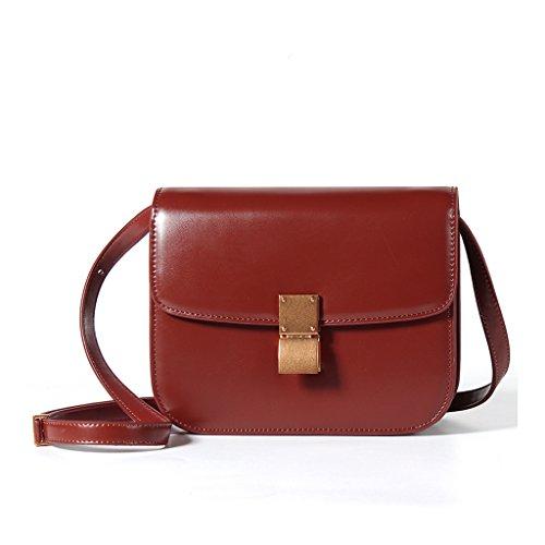 Sucastle Mujer bolsos de hombro Cuero Genuino Gran Capacidad,RFID Bloqueo,Genuina Hecho a Mano,Ideal para trabajo y viaje,#3 #6