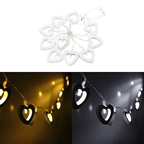 Lights & Lighting - 10led Battery Operated Heart String Fairy Light For Xmas Decoration - Heart String Fairy Lights Pink Light - 1PCs