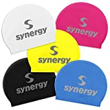 Quality Yes 3Pack Colorful /& Pattern Superior Polyester Cloth Fabric Bathing Cap Swimming Caps Swimming Hats for Water Sports