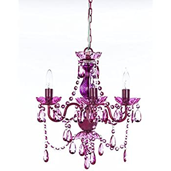 Af lighting 8353 4h naples four light mini chandelier light the original gypsy color 4 light small fuchsia and purple chandelier h18 w15 light purple metal frame with fuchsia acrylic crystals mozeypictures Images