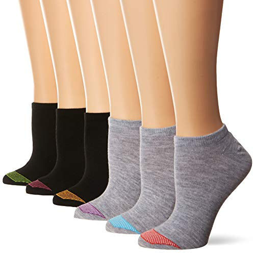 Hanes Women's Ultimate Lightweight Vent No Show Sock 6-Pack