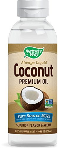 Nature's Way Premium Liquid Coconut Oil Supplement, 10 Ounce (300 mL)