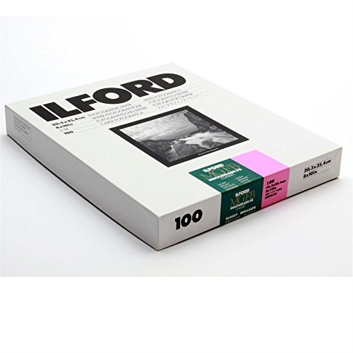 Ilford MGFB1K Fiber Based B & W Paper - 8x10, 100PK Glossy (Weight Fb Double Based Fiber)