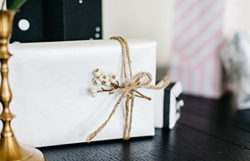 Marble+Vine BEST LUXURY ECO FRIENDLY GIFT WRAP: WHITE GLOSS PREMIUM (SET OF 2 ROLLS) - Luxury Wrapping Paper
