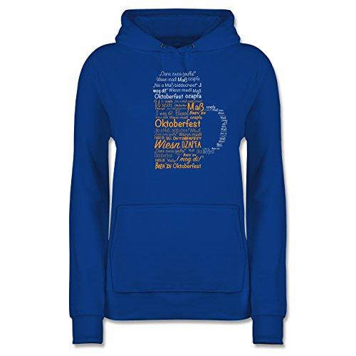 - Damen Shirtracer Oktoberfest Maß Hoodie Royalblau