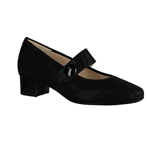 35 Hassia MUJER 303376 Negro 010 height Evelyn Black w mm Point TOP Goat Negro Tendencias Heel pxpaw7Crq