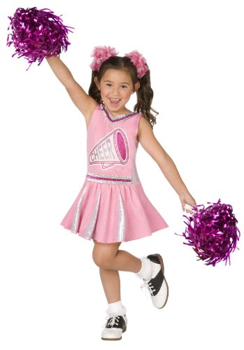 Pink Cheerleader Child Costume Size Small