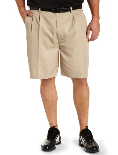 Reebok Big & Tall Golf Play Dry Continuous Comfort Pleated Shorts