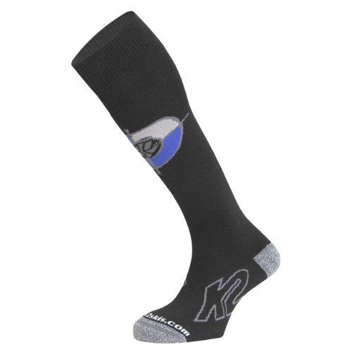 (K2 Men's Factory Sock (Black, Small))