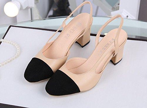 romano pacchetto colore bold un scarpe incantesimo beige header i Sandali con tacchi unico 38 di con yalanshop scarpe di alti Px6nTOWq77