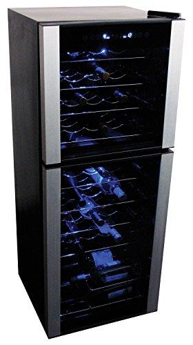 (Koolatron 45 Bottle Dual Zone Freestanding Wine Refrigerator)
