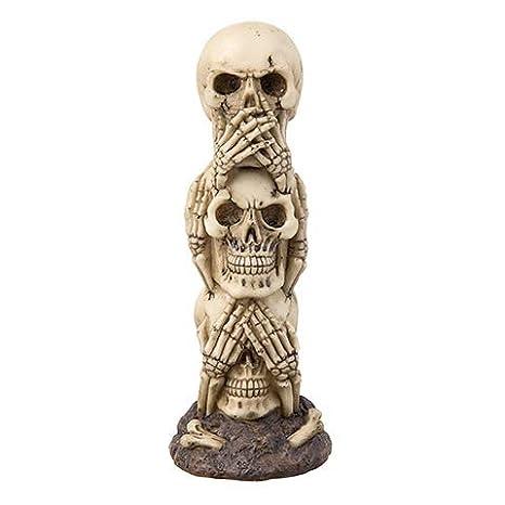 Amazon.com: Stacked Skeleton Skull Decoration 3 Skulls ...
