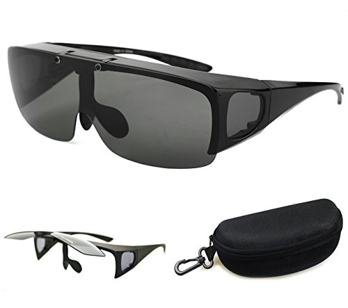 Bestum Driving Glasses Wraparounds Polarized Fitover Sunglasses (Matte black , - Sunglasses Polarized Around Wrap
