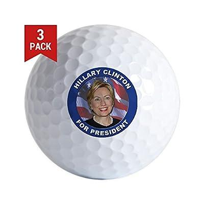 CafePress - Hillary Clinton - Golf Balls (3-Pack), Unique Printed Golf Balls