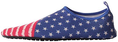 CAIHEE Frauen und Männer Leichtgewichtler Quick Dry Slip On Water Schuhe Aqua Barfuß Haut Schuhe Blau3