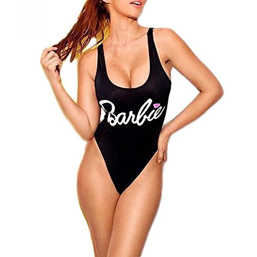 NJunicorn Uncle Baywatch-Inspired One Piece Barbie Swimsuit With High Cut and Low Back for Women