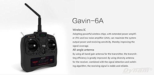 Detrum Gavin-6C 2.4G 6-Channel TX Transmitter W// RXC7 7CH Rx Receiver DTM-T001