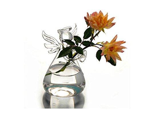 Mini Angel Flower Vase Glass Planter Terrarium Container Pot Wedding Decor