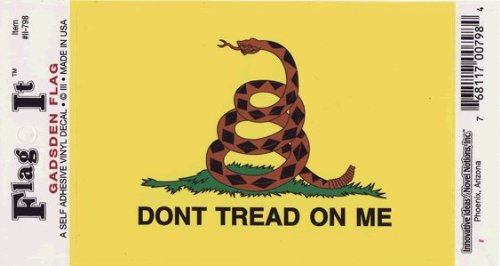 "Gadsden Flag Decal 3.5""x5"" High Quality Vinyl"