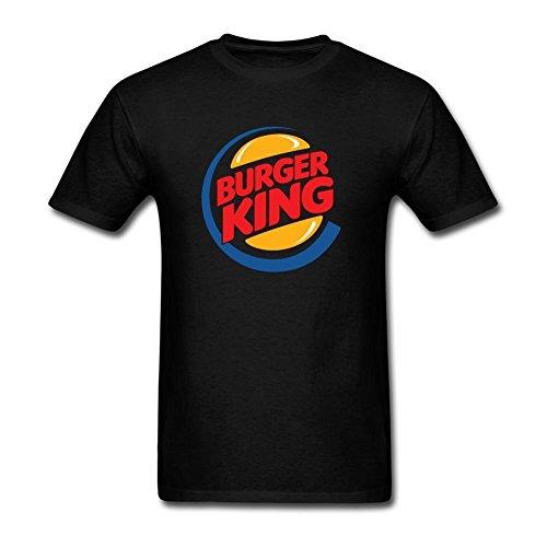 RONGBANG Men's Food Burger King Logo T-shirt XL ColorName Short Sleeve (Burger Foods King)