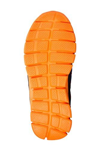 Mountain Warehouse Leichte Junior Sneaker - Netzstoff, Kinderfreizeitschuhe, Griffige Laufsohle, Kindersneaker, Klettverschluss, Eva-Fußbett - Für Jungen und Mädchen Marineblau