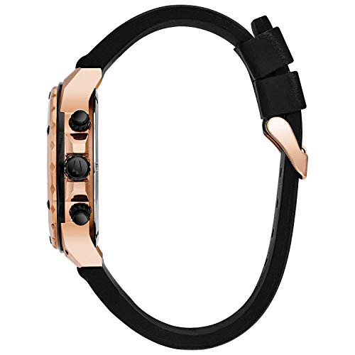 Bulova Marine Star 98B104 – armbandsur för män – kronograf med gummiarmband – vattentätt – roséguld färger