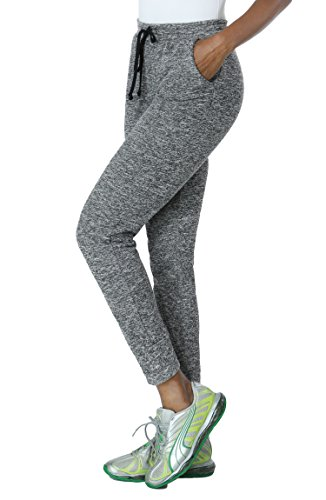 Comfortable Stretchy Drawstring Athletic Lounge Sweatpants For Womens
