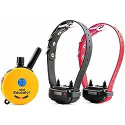 Educator ET-302 Two Dog Mini 1/2 Mile E-Collar Remote Dog Training Collar With Vibration, Tapping Sensation and Pavlovian Stimulation