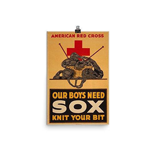 Vintage poster - Knit Your Bit 0638 - Enhanced Matte Paper