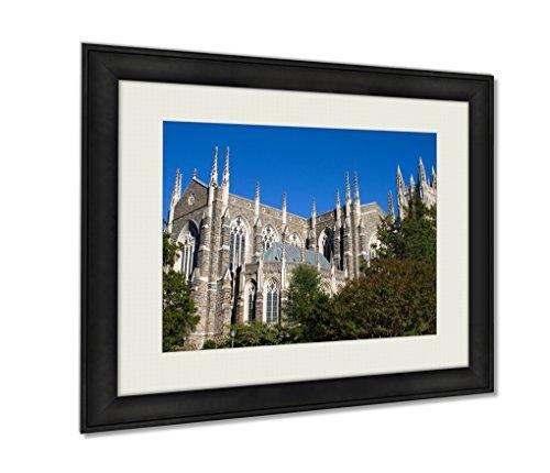 (Ashley Framed Prints, Duke University Chapel, Wall Art Decor Giclee Photo Print In Black Wood Frame, Ready to hang, 24x30 Art, AG6003487)