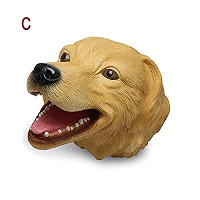 Tenrry Hand Puppet Toys Soft Rubber Realistic Animal Head Hand Toy: Garden & Outdoor