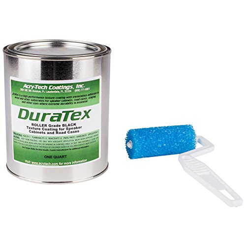 Acry-Tech DuraTex Black 1 Quart Roller Grade Cabinet Texture Coating Kit with Textured 3