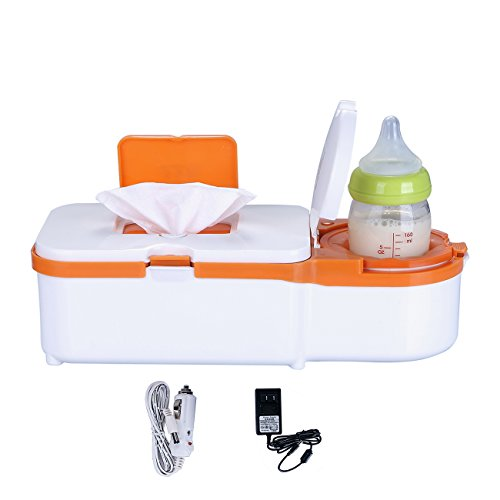 Tomyth Baby Wipes Warmer and Bottle Warmers 2 In 1 Car Plug Included