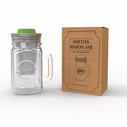 Smith's Mason Jars Cold Brew Coffee Maker and Tea Infuser with Mug and Drinking Lid by Smith's Mason Jars (Image #3)