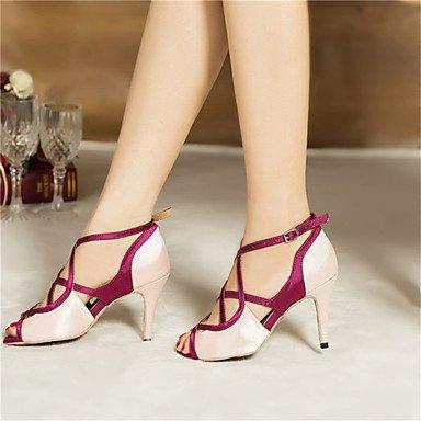 Personalizables de Zapatos Jazz Rosa Latino Samba Leopardo Zapatos Personalizado Swing de baile Tacón leopard Salsa AqwxSPWHd