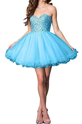 La_mia Braut Gelb Damen Tuell Kurzes Abendkleider Ballkleider Partykleider Festlichkleider Formalkleider Neu Blau evv5DCAERG