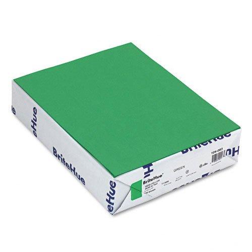 Mohawk - Brite-Hue Color Copy/Laser/Inkjet Paper, Green, 24lb, Letter, 500 Sheets - Pack of 6