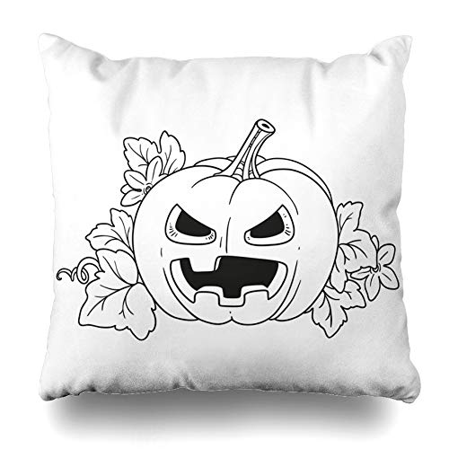 Decorativepillows Case Throw Pillows Covers for Couch/Bed 18 x 18 inch, Lantern from Pumpkin with The Cut Out of A Terrible Home Sofa Cushion Cover Pillowcase Gift Bed Car Living Home