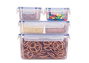 Komax Biokips Food Storage Containers Set Airtight (5) Including Lunch Box