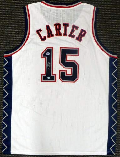 94b67e7556f6 Autographed Vince Carter Jersey - White Stock  141208 - PSA DNA Certified -  Autographed NBA Jerseys at Amazon s Sports Collectibles Store