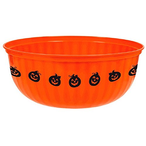 Amscan Jack-O-Lantern Plastic Serving Bowl Tableware,