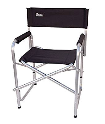 "Earth ""Extra Heavy Duty"" Folding Director's Chair w/ Extra Heavy-Duty, Steel Reinforced Frame -- Foam Arm Rests for Comfort"