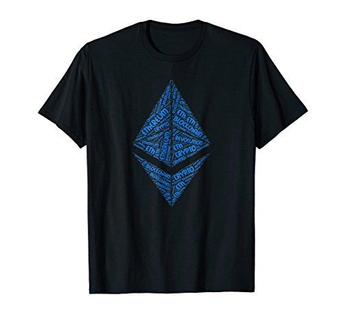 Mens Ethereum BlockChain Revolution Crypto ETH Word Shirt XL Black