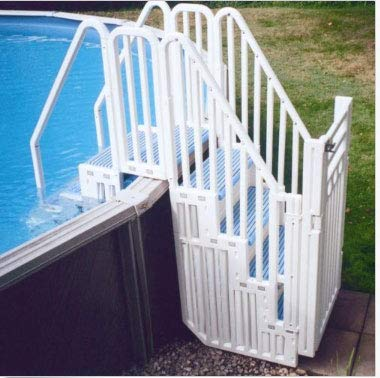 Confer Entry System for Above Ground Pools with Blue Steps
