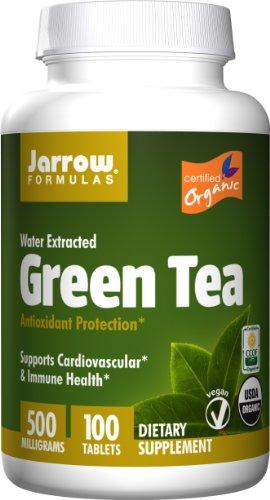 (Jarrow Formulas Green Tea Organic, Supports Cardiovascular & Immune Health, 500 mg, 100)